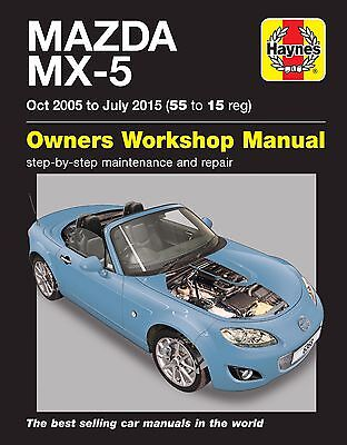 Mazda MX-5 MX5 1.8 2.0 MK3 Oct 2005 - Jul 2015 (55 - 15) Haynes Manual 6368 NEW