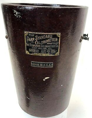 Antique Vintage 1914 Parr Standard Calorimeter Lab Pressure Vessel Base Bucket