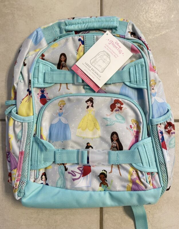 New With Tags Pottery Barn large full size disney princess backpack bag