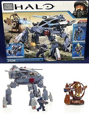 New - UNSC QUAD-WALKER - HALO Mega Bloks 97263 - 2 Figures Blue Spartan Aviator