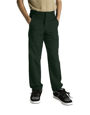 Dickies Boys Hunter Green Pants Flat Front School Uniform Sizes 4 to 20