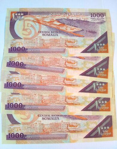 SOMALIA 1000 SHILLINGS 1990 UNC ( X 50 PCS) from bundle bank notes