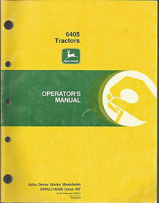 JOHN DEERE 6405 TRACTORS OPERATORS MANUAL