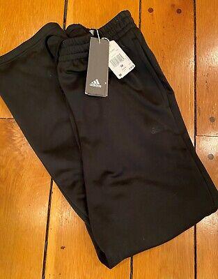 Adidas Team Issue Fleece Open Hem Black Sweat Pants - Size Medium