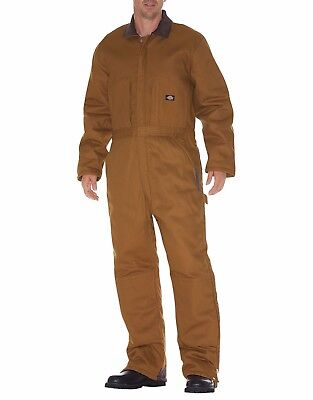 Dickies Men's Duck Premium Insulated Coverall Brown Duck TV239BD