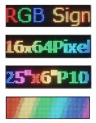 Led Sign Full Color 25x 6.5 P10 Programmable Scrolling Message Display