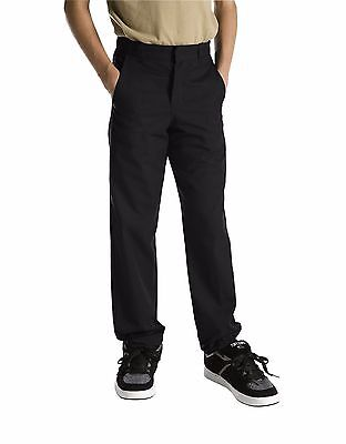 (Dickies Boys/Girls Classic Fit Straight Leg Flat Front Uniform Pants Size 4 - 20)