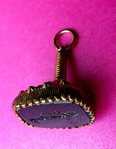 """ANTIQUE GEORGEAN  EARLY GILT METAL LETTER SEAL, FOB CHARM,PENDANT,READS """"SUNDAY"""""""