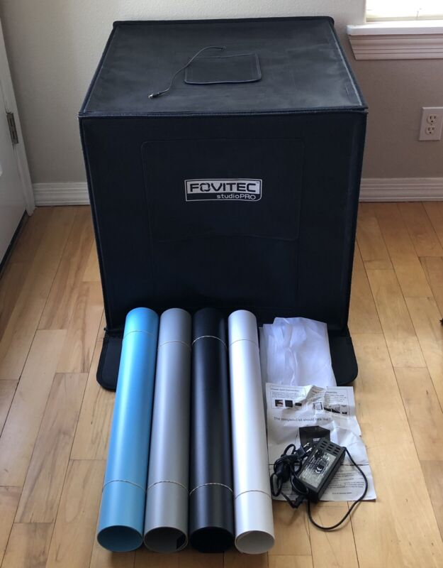 """Fovitec StudioPro All-In-One 24"""" Cube LED Photo Light Tent Kit"""