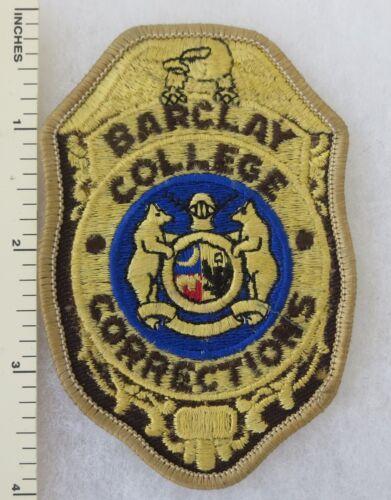BARCLAY COLLEGE KANSAS CORRECTIONS PATCH OBSOLETE Vintage ORIGINAL