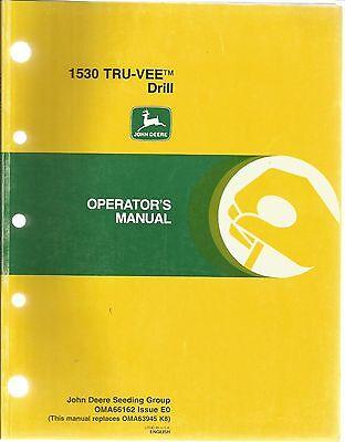 JOHN DEERE 1530 TRU-VEE FRILL OPERATORS MANUAL