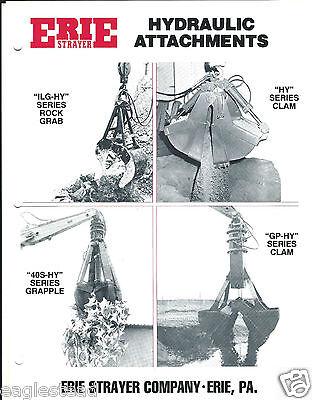 Equipment Brochure - Erie - Hydraulic Att Rock Scrap Grapple - 3 Items E3034