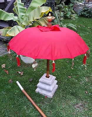 80cm Ø Bali Tempel Sonnen Balkon Schirm  ROT  REDUZIERT von 79 euro
