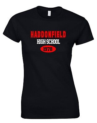 Haddonfield High School 1978 Jason Kult Halloween Horror Film Damen T-Shirt ()