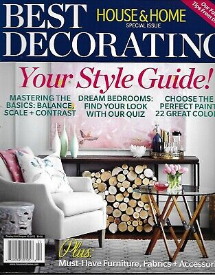 Best Decorating House And Home Magazine Special Issue Style Guide Fabric (Best Interior House Paint)