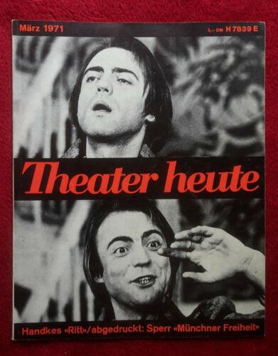 Theater heute - Ausgabe März 1971