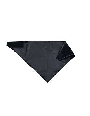 Fleece Lined Leather Face-Mask, Motorcycle Riding Bandanna, Cold Weather Gear