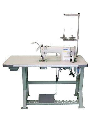 Juki Du-1181n Industrial Top Bottom Feed Waking Foot Machine Complete Set 110v