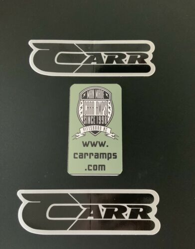 CARR AMPLIFIERS STICKERS 3 RARE FIND -COOL STICKERS From The NAMM SHOW - $6.99