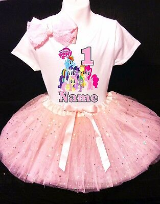 My Little Pony***With NAME***1st First Birthday Pink Tutu Dress Fast Shipping