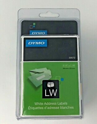 Dymo Lw Label Writer White Address Labels 30572 New In Box 3 12 X 1 18