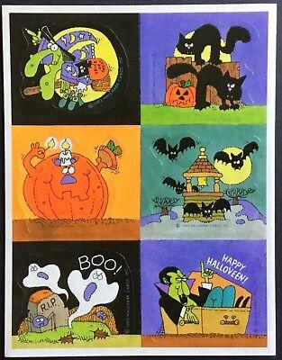 Sheet of Vintage Stickers - Hallmark - Halloween - Dated 1983](Date Of Halloween)