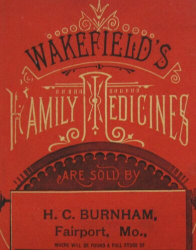 Vintage Quack Patent Medicine Catalog Wakefield