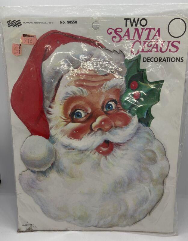 Vintage Eureka Die Cut Santa Claus Christmas New Old Stock NOS