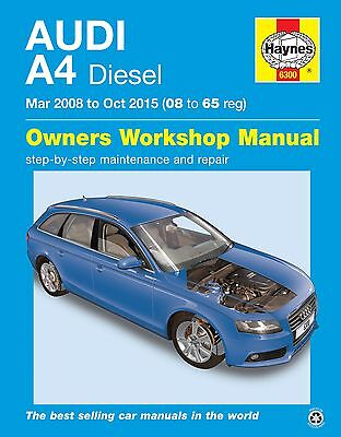 Haynes Manual 6300 Audi A4 2.0 Diesel Mar 2008 to Oct 2015
