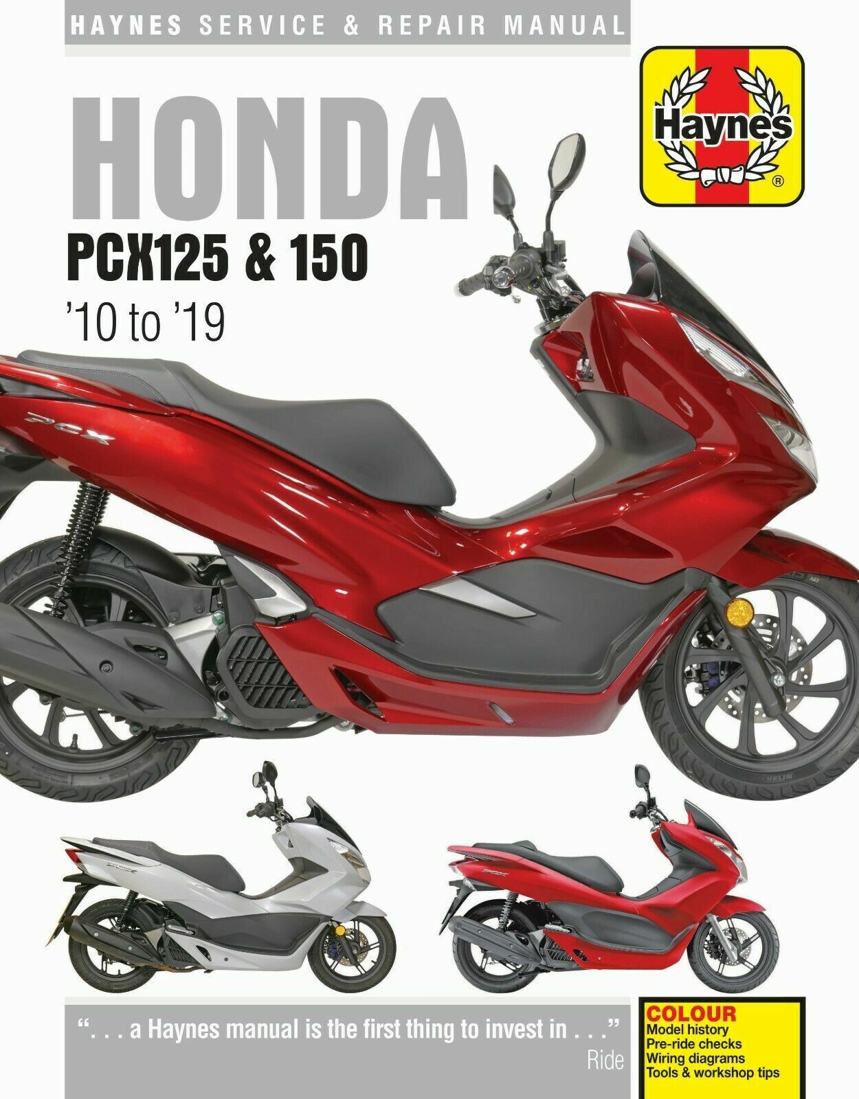 HAYNES 6447 HONDA PCX125 & 150 2010 TO 2019 MOTORBIKE MANUAL