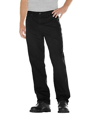 Dickies RINSED BLACK Relaxed Fit Straight Leg Carpenter Duck Jeans 1939RBK Dickies Black Relaxed Fit Jeans