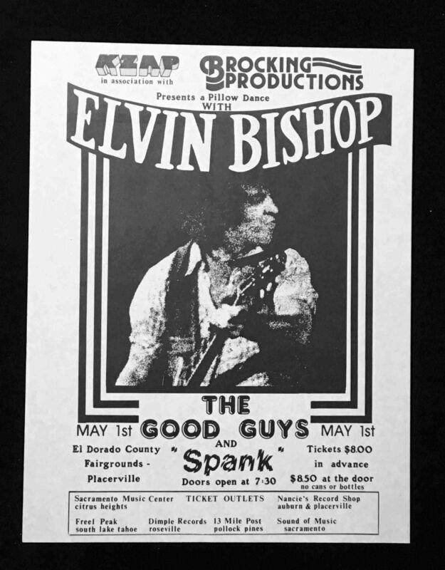 ELVIN BISHOP Rare Handbill El Dorado County Fairgrounds Placerville circa