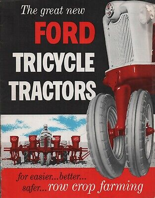 1955 Original Ford Tractor Tricycle Tractors Bookletbrochure Free Ship