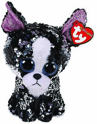 Portia Dog Sequin Flippables Ty Beanie Boos Stuffed Animal Plush Small 6