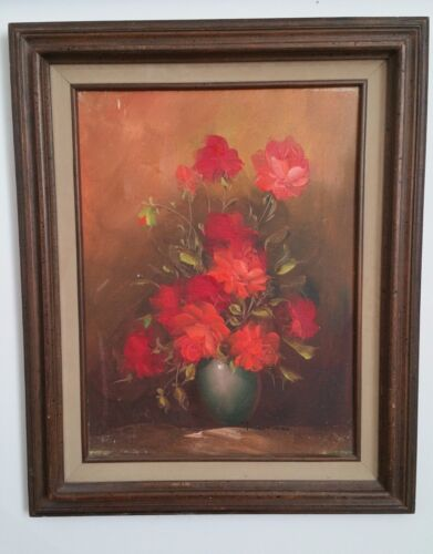Bouquet of Roses Flowers by Listed Artist Robert Cox - Oil on canvas