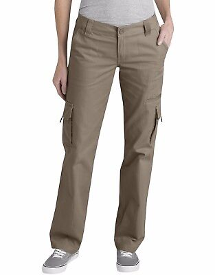 Dickies FP777RNP, Women Relaxed Fit Cargo Pocket Pant 100% Cotton Twill - Twill Womens Cargo Pocket Hosen
