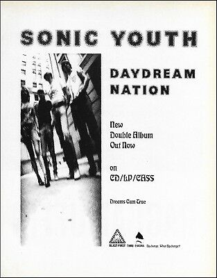 Sonic Youth 1988 Daydream Nation New Double Album advertisement 8 x 11 ad print