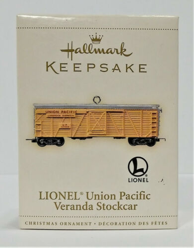 Hallmark Keepsake Ornament Lionel Union Pacific Veranda Stockcar 2006