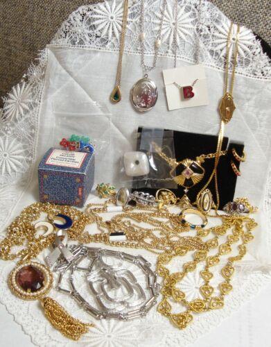 Lot of Vintage Avon Jewelry Rings Necklace Earrings