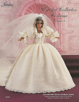 20th Century Royal Wedding Gown Vol. 4 Dress Paradise Crochet Costume Pattern - P Costume