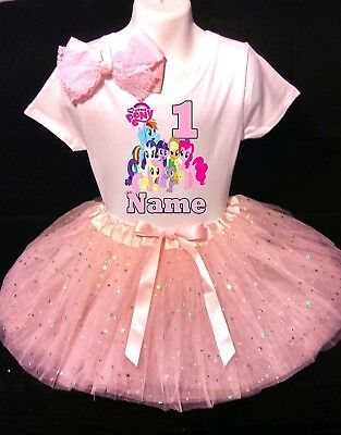 My Little Pony --With NAME-- 1st Birthday Dress shirt 2pc pink Tutu outfit