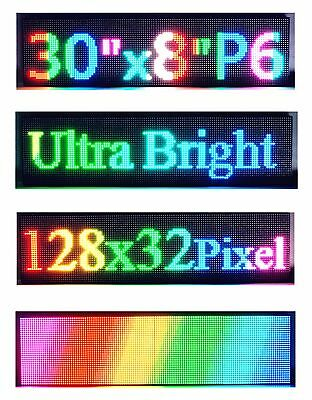 30x 8 P6 Semi Outdoor Full Color Led Sign Programmable Scrolling Message Board