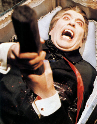 DRACULA HAS RISEN FROM THE GRAVE CHRISTOPHER LEE RARE PHOTO