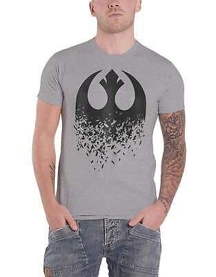 Star Wars T Shirt The Last Jedi Rebel Logo Splintered Official Mens Grey