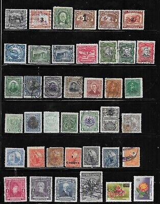 HICK GIRL- BEAUTIFUL USED EL SALVADOR STAMPS     VARIOUS ISSUES        T109