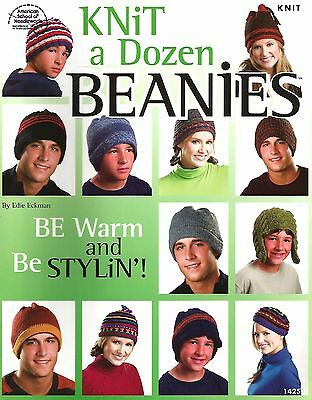 Knitting Patterns Beanie Hats (Knit a Dozen Beanies Knitting Instruction Patterns Hats Adults Women Men Teens )