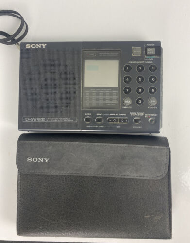 Sony ICF-SW7600 AM / FM / LW / MW / Short Wave PLL Synthesized Radio Receiver - $69.25