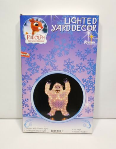 """Roman Lights Rudolph The Red Nosed Reindeer 24"""" Light Up Bumble"""