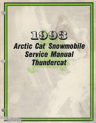 manuals - arctic cat snowmobile thundercat on 1993 arctic cat panther, 1993  arctic cat snowmobile honda cb 650 wiring diagram