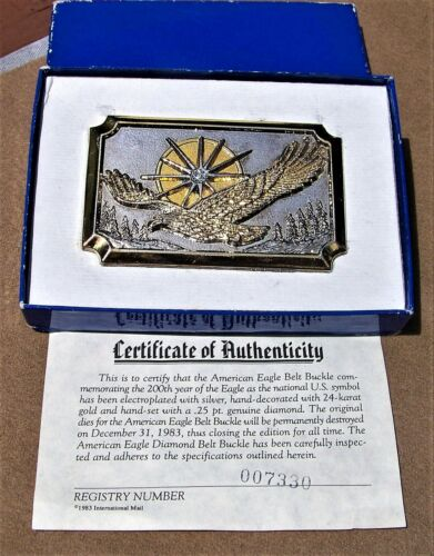 Numbered American Eagle Belt Buckle
